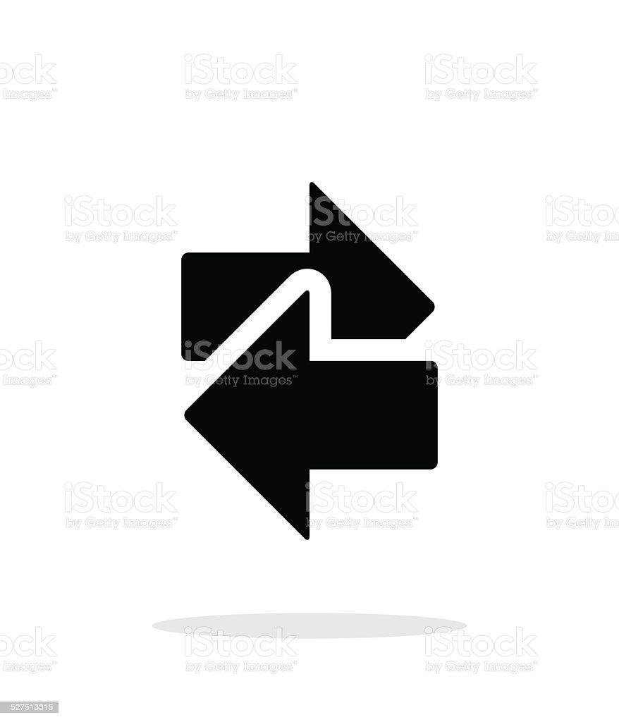 Interchange icon on white background. vector art illustration
