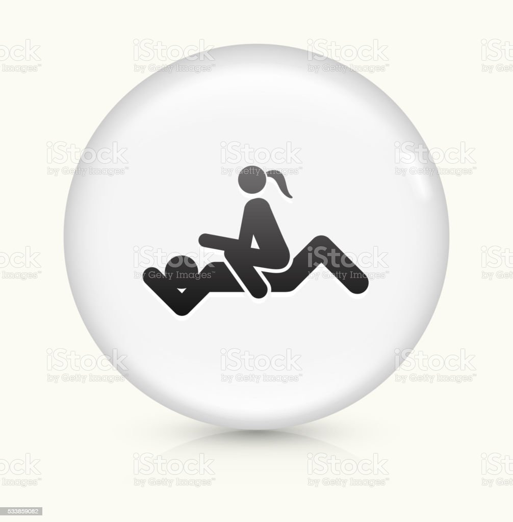 Intercourse icon on white round vector button vector art illustration