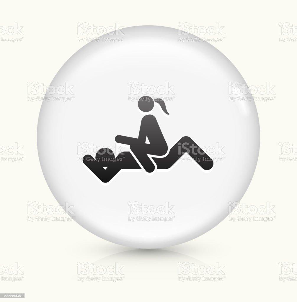 Intercourse icon on white round vector button vector art illustration