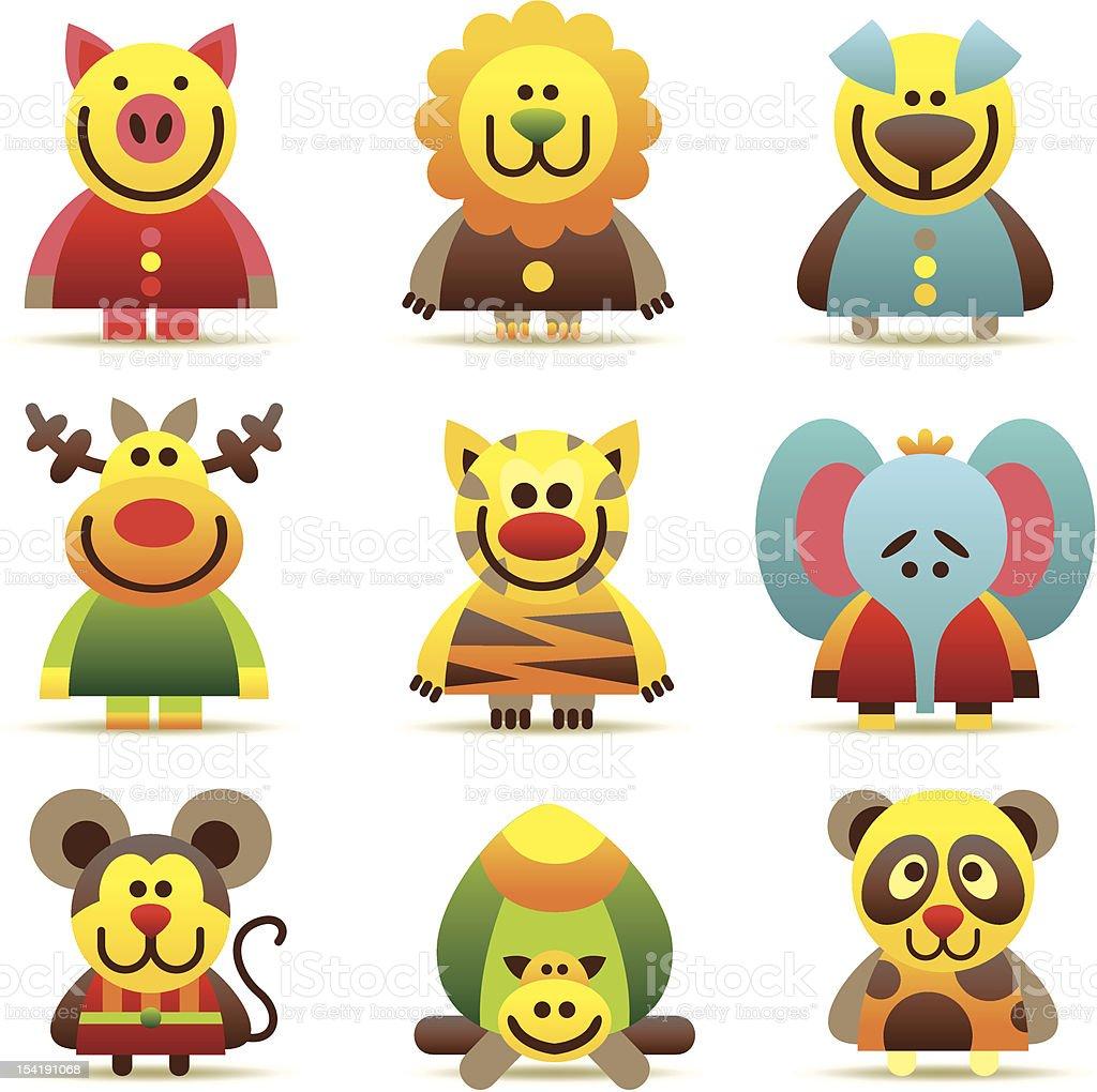 interesting animal icons royalty-free stock vector art