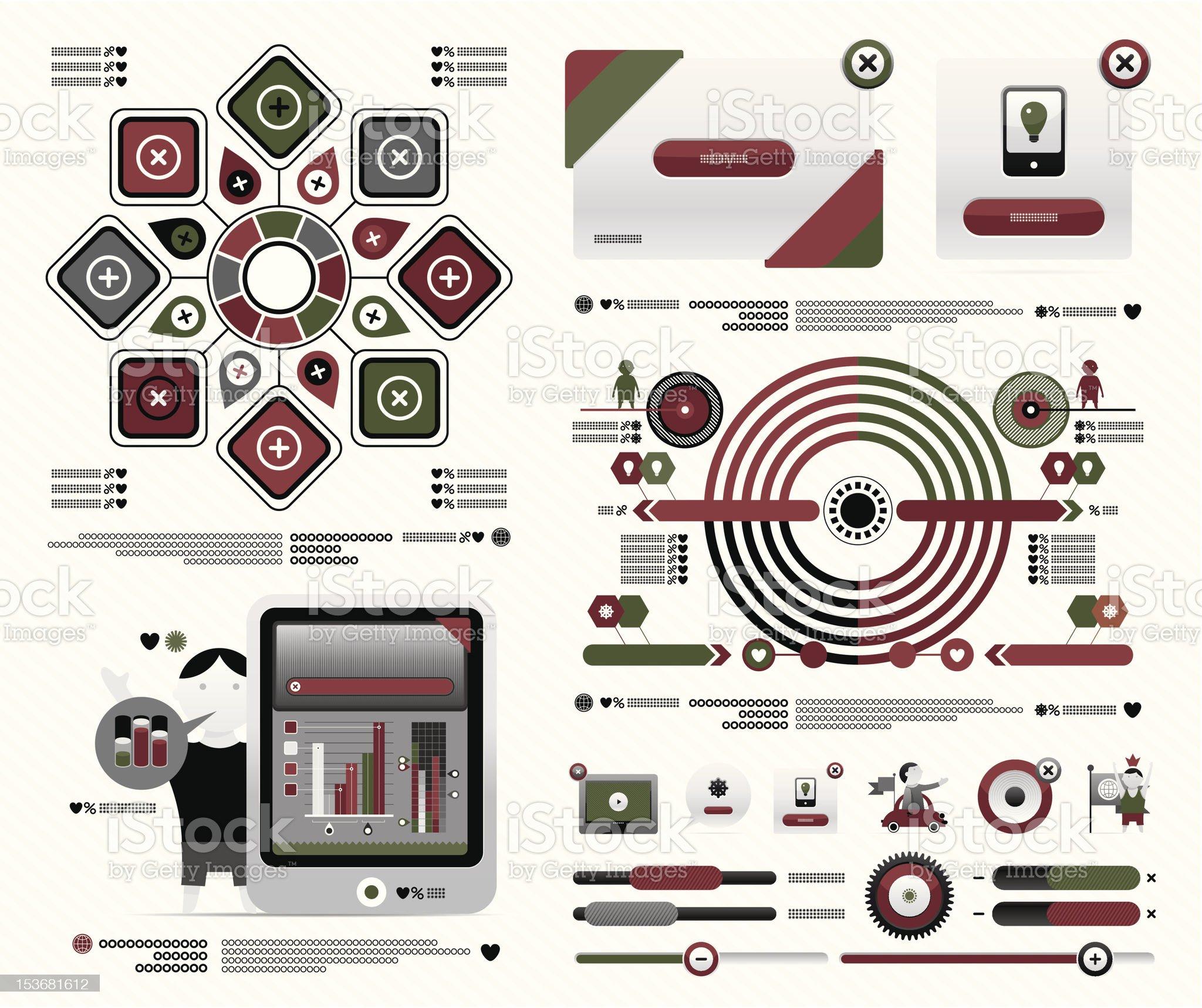 interesting set of infographics royalty-free stock vector art