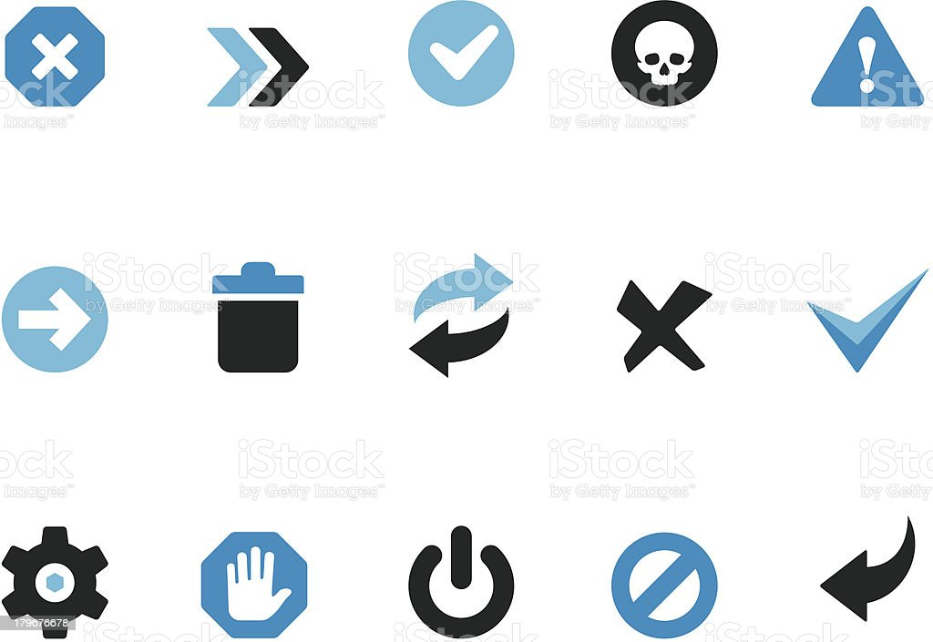 Interface buttons / Coolico icons vector art illustration