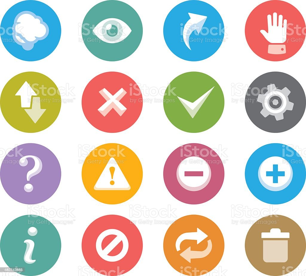 Interface buttons / Wheelico icons royalty-free stock vector art