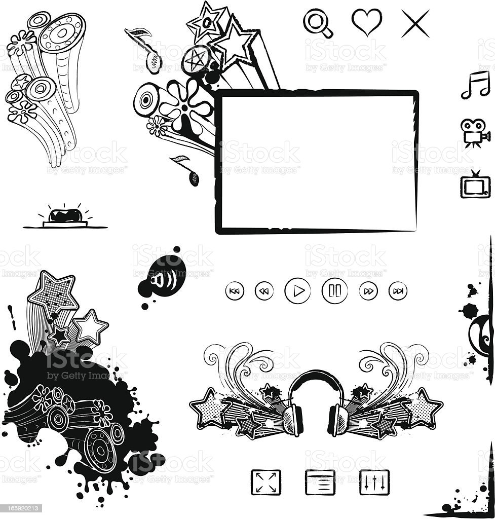 Interface Design Elements royalty-free stock vector art