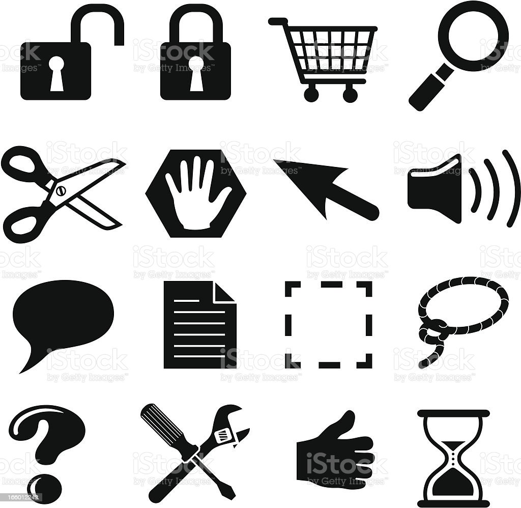 interface icons royalty-free stock vector art