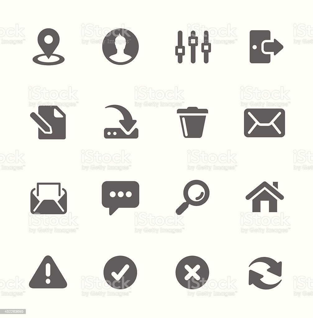 Interface icons. royalty-free stock vector art