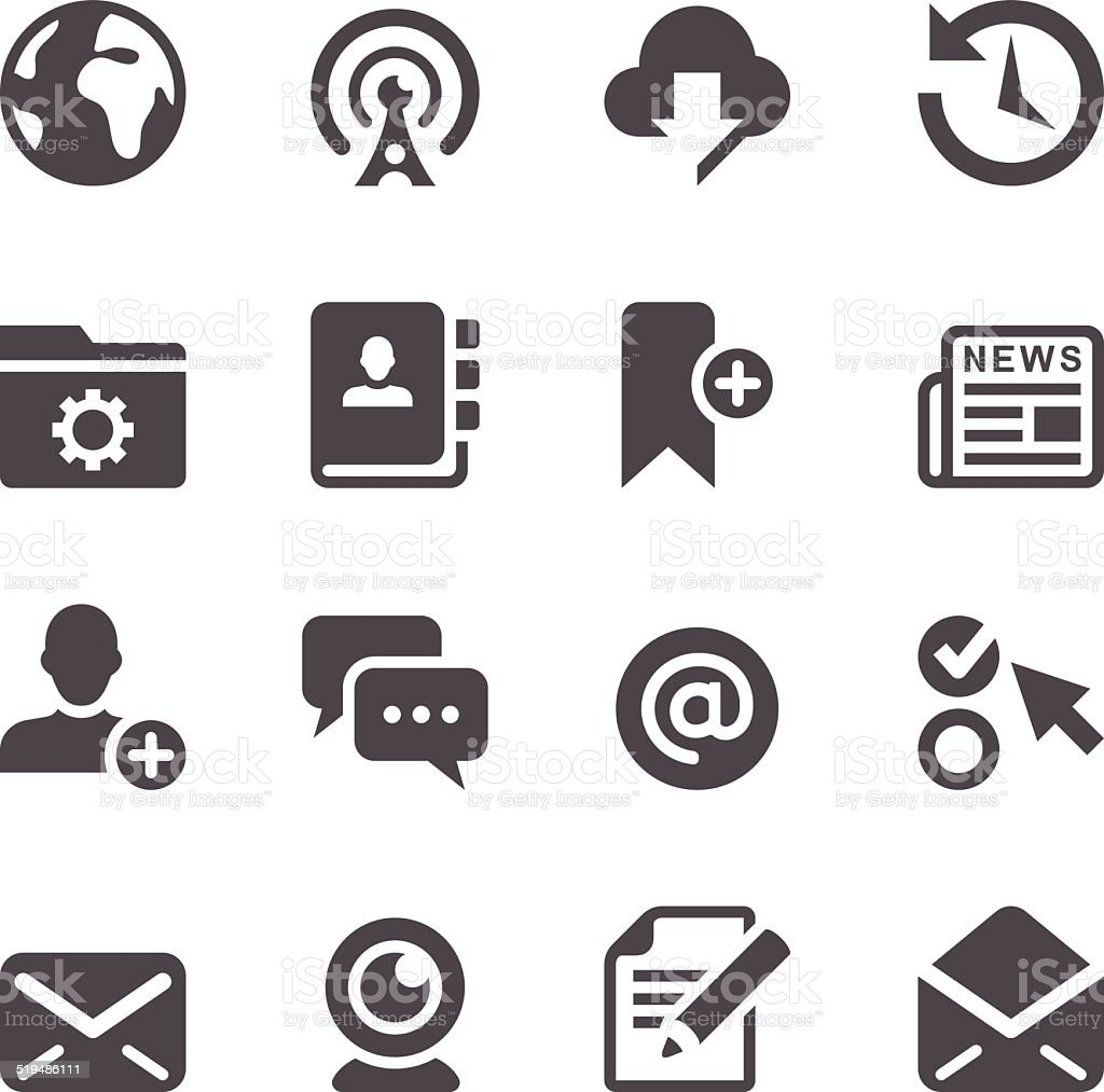 Interface Icons vector art illustration