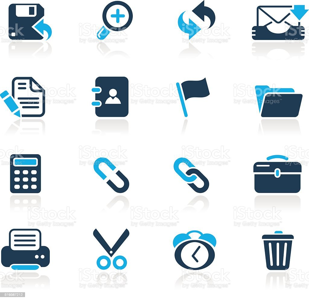 Interface Web Icons // Azure Series vector art illustration