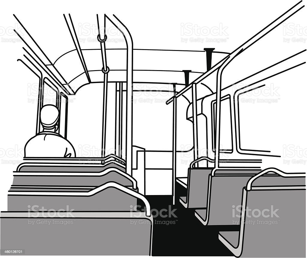 interior bus vector art illustration