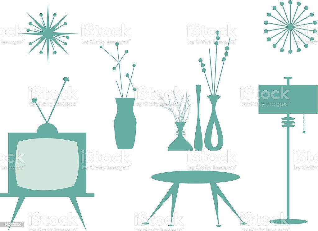 Interior Design Elements Vector Art Illustration