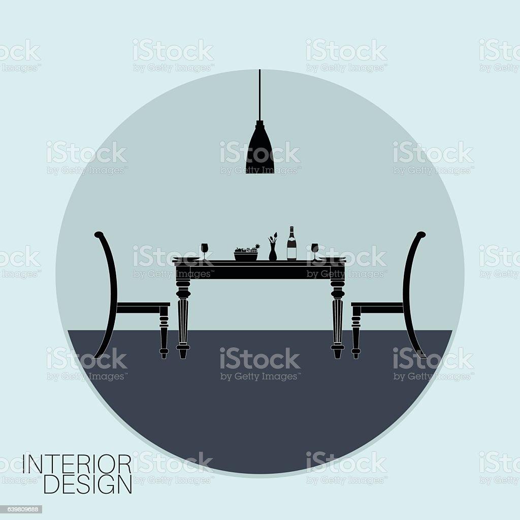 Interior design logo vector - Interior Design Logo Royalty Free Stock Vector Art