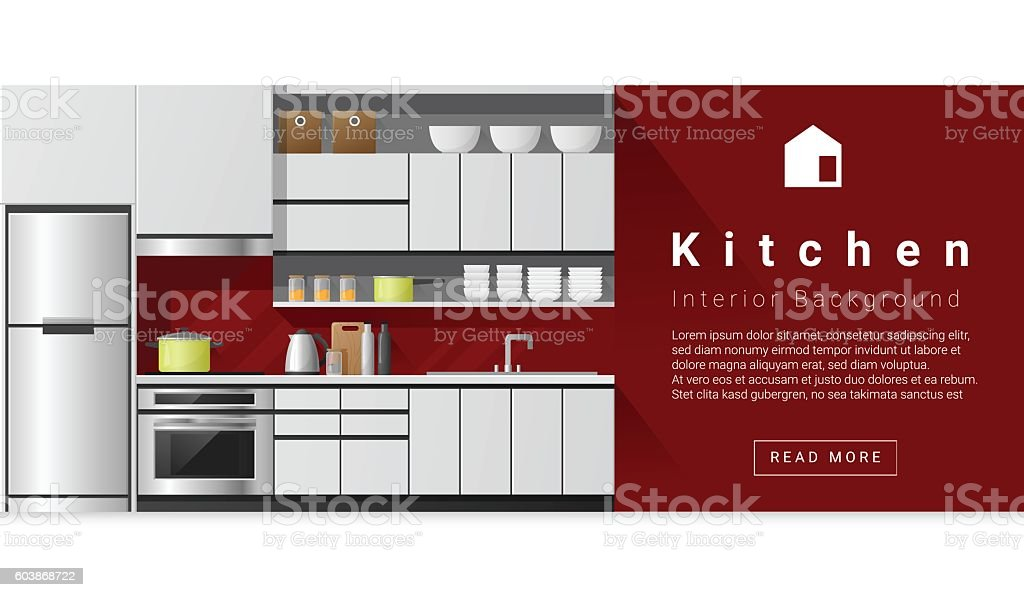 Modern Kitchen Background interior design modern kitchen background 1 stock vector art