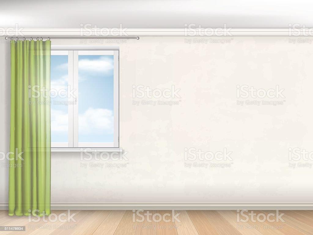 interior empty room vector art illustration