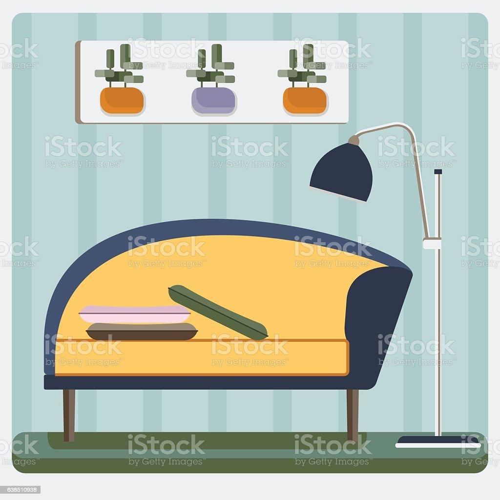 interior floor lamp vector art illustration