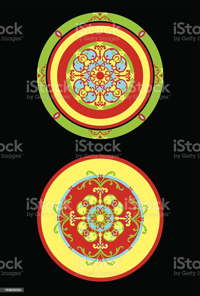 Interior pattern royalty-free stock vector art