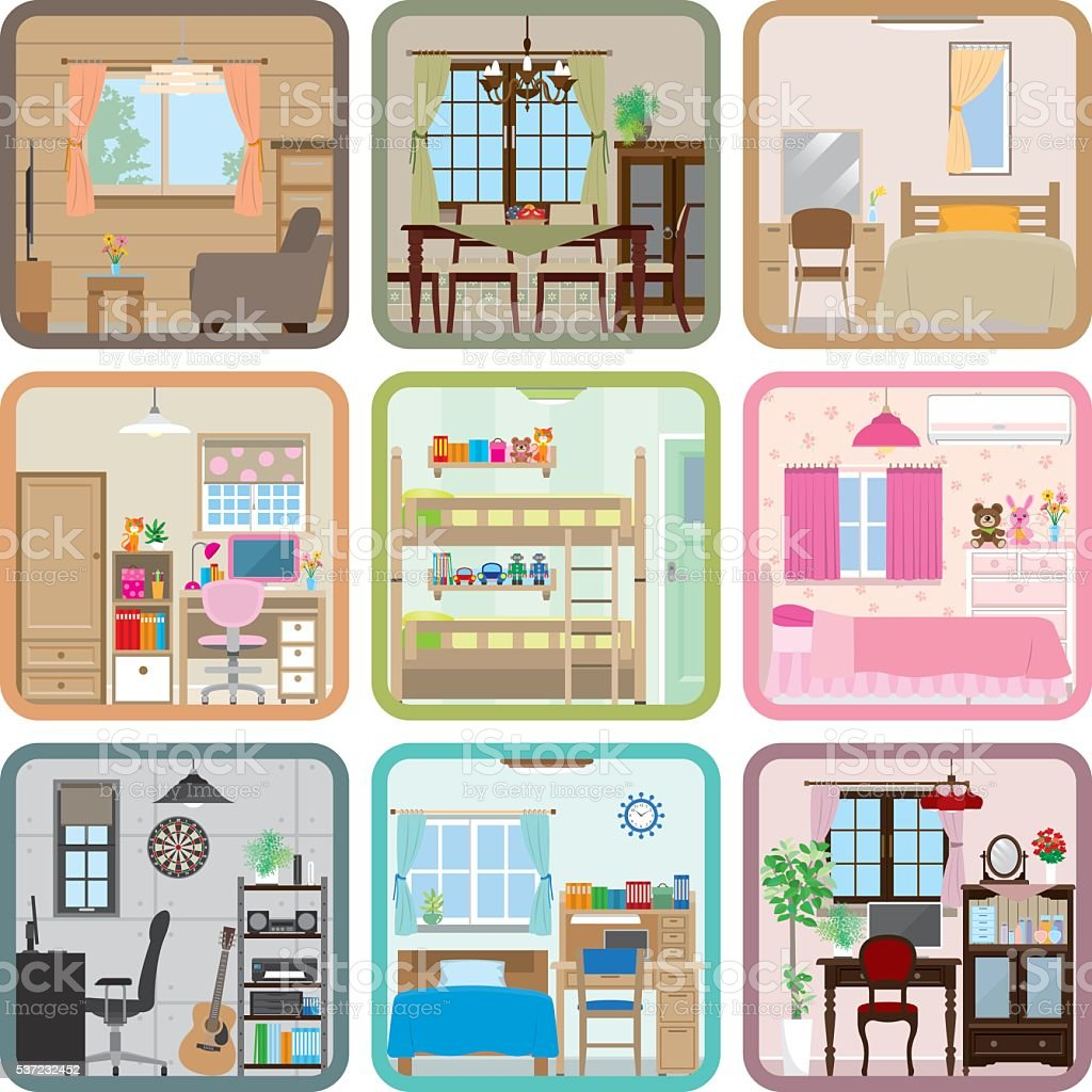 Interior / Room vector art illustration