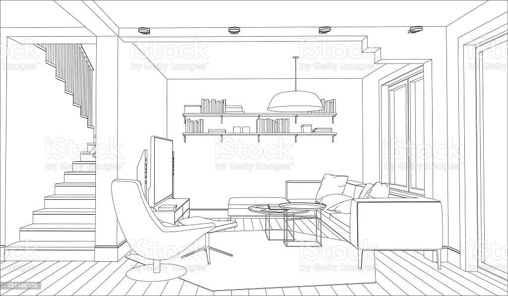 Interior vector art illustration