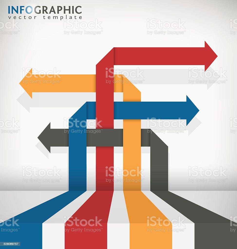 Interlaced Arrow vector art illustration