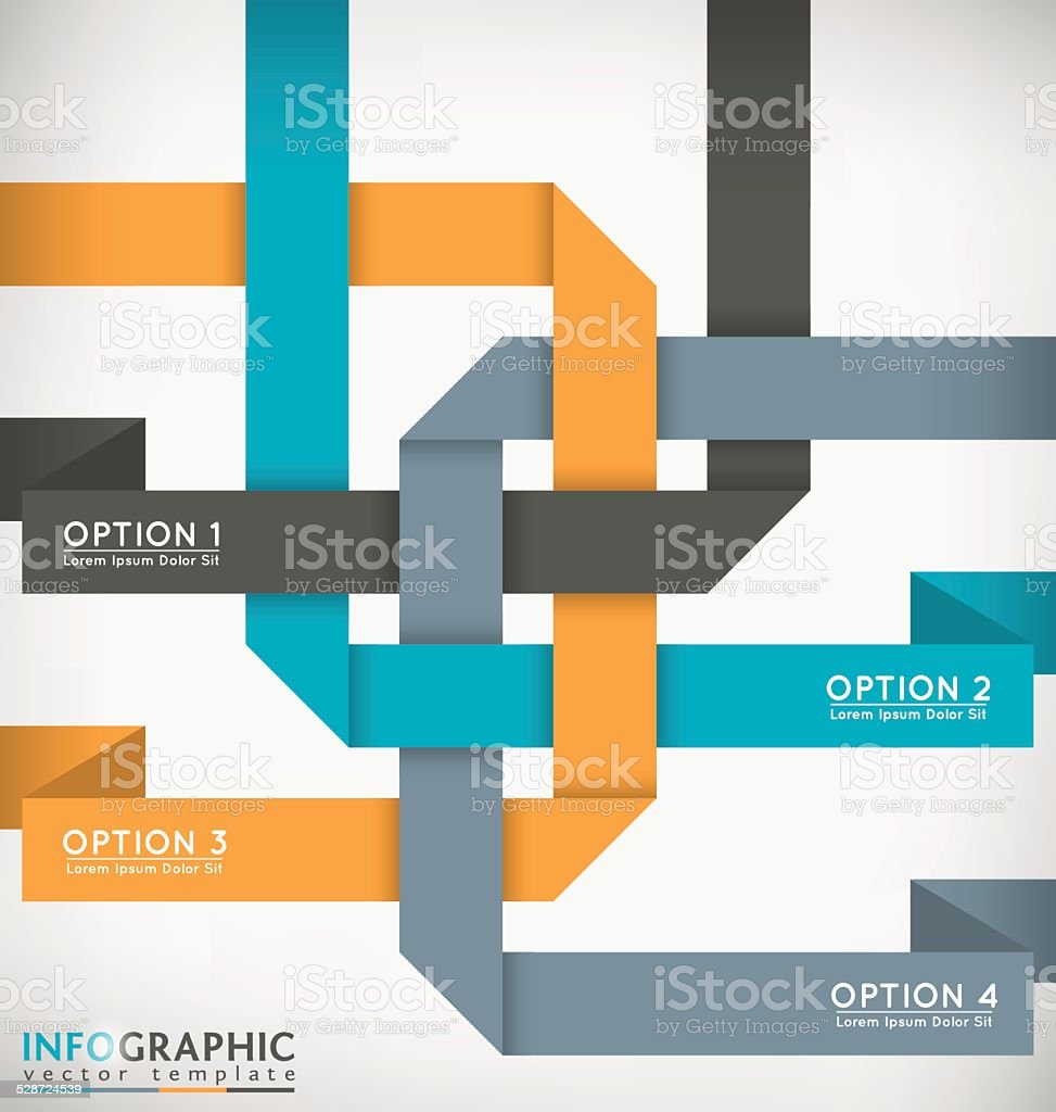 Interlaced Ribbons vector art illustration