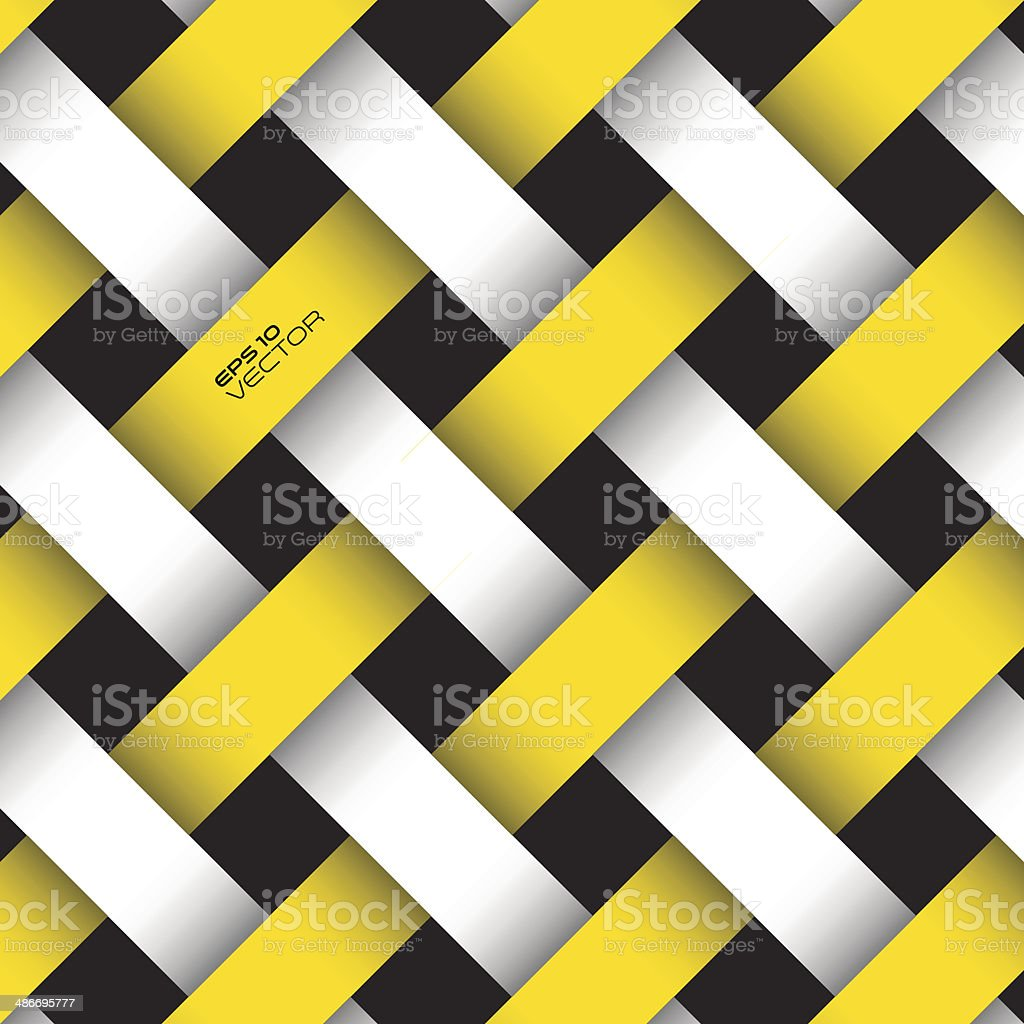 Interlaced stripe pattern. vector art illustration
