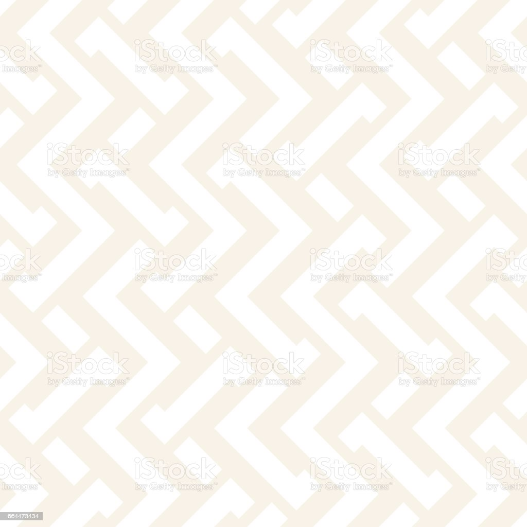 Interlacing Lines Subtle Lattice. Ethnic Monochrome Texture. Vector Seamless Black and White Pattern. vector art illustration