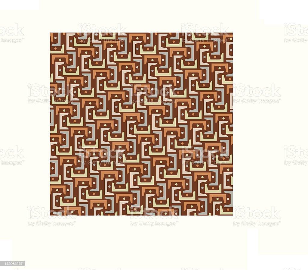 Interlink Pattern in Brown royalty-free stock vector art