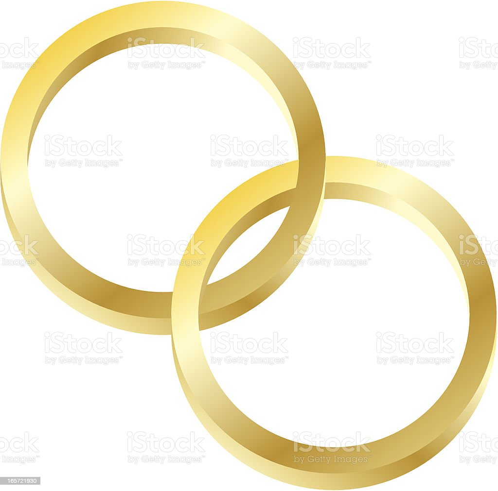 Interlocking Rings royalty-free stock vector art