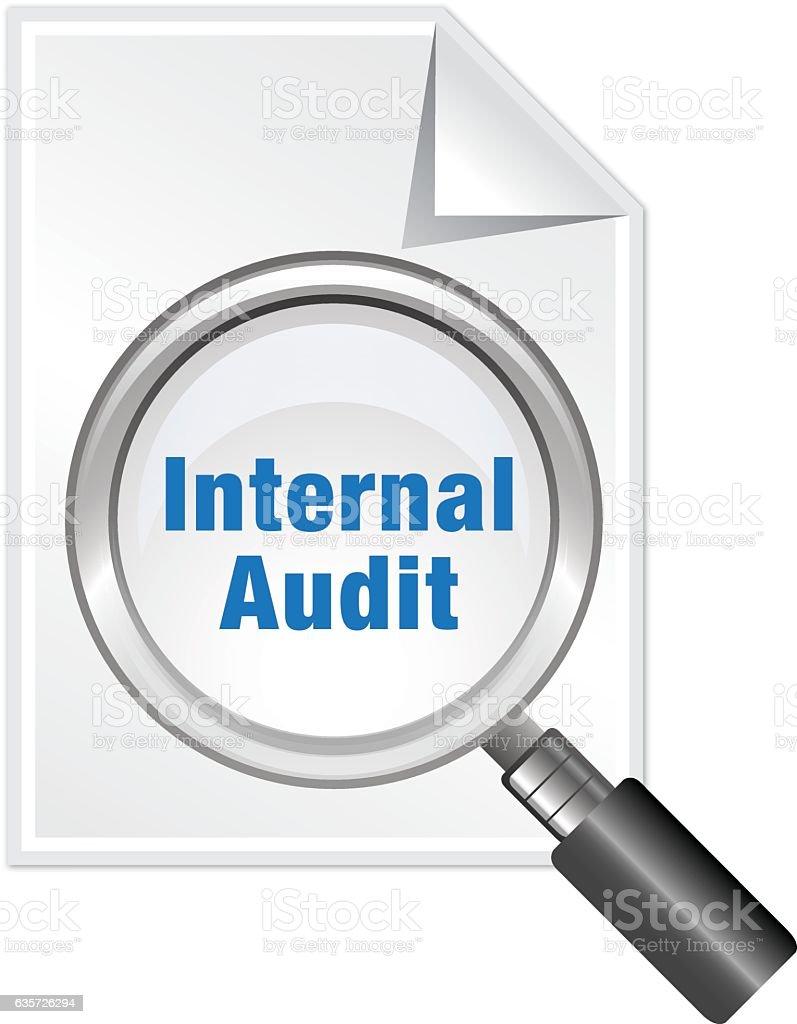 Internal Audit vector art illustration