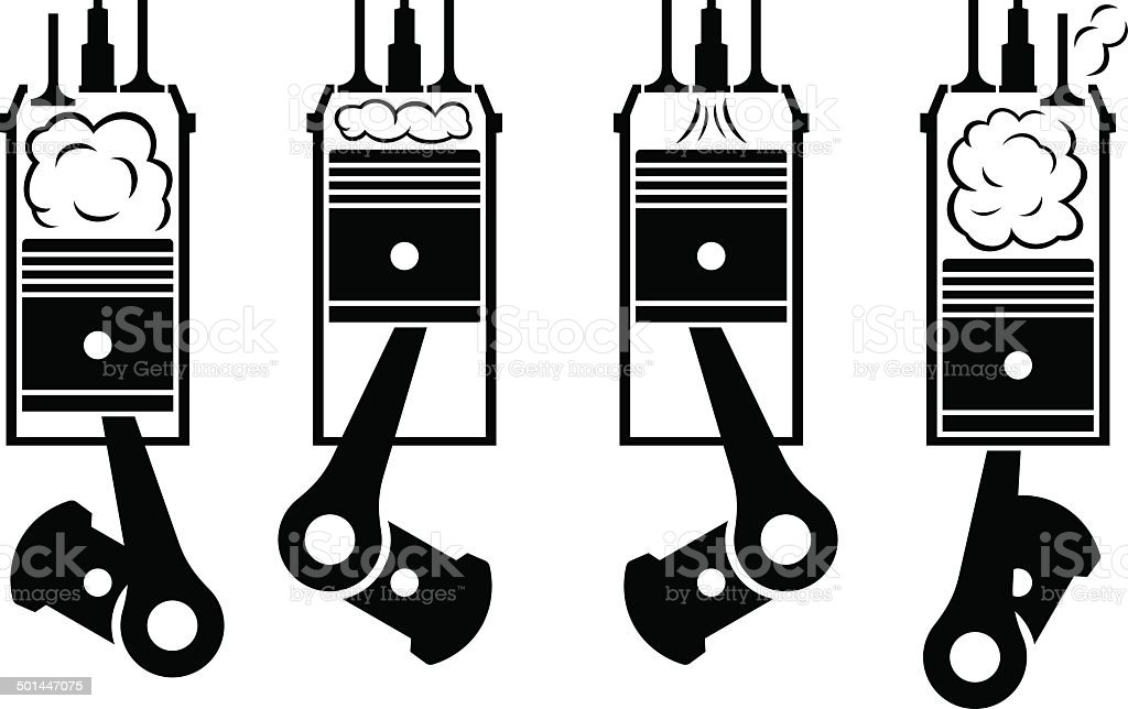 Internal combustion engine royalty-free stock vector art