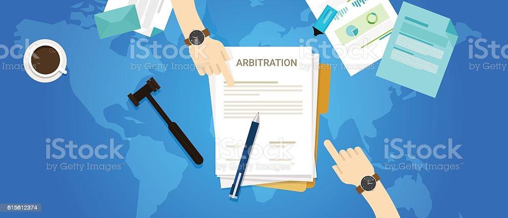 international arbitration mediation court vector art illustration