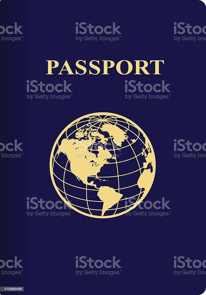 International blue passport vector art illustration