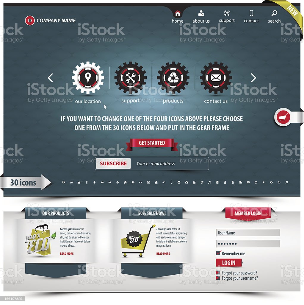international business template vector art illustration