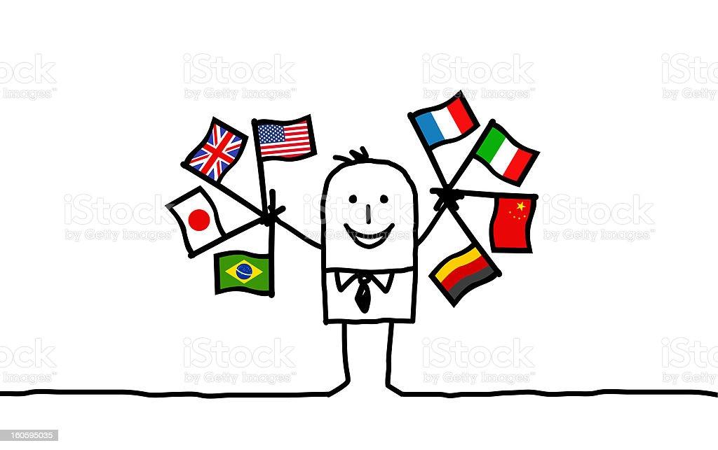 international businessman vector art illustration