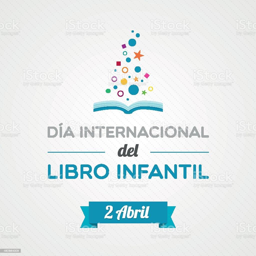 International Children's Book Day in Spanish royalty-free stock vector art