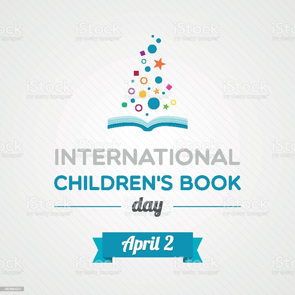 International Children's Book Day vector art illustration