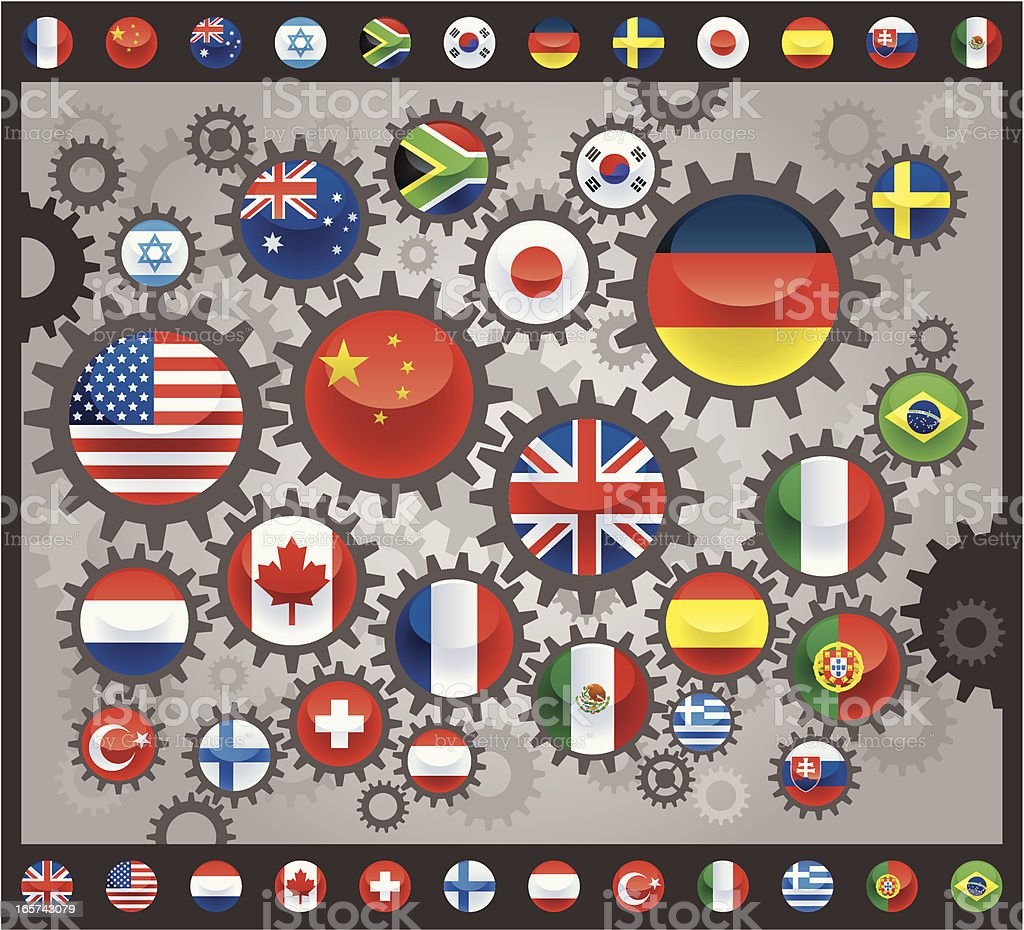 international connection royalty-free stock vector art