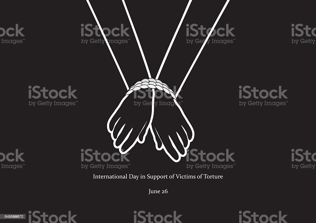 International Day in Support of Victims of Torture vector vector art illustration