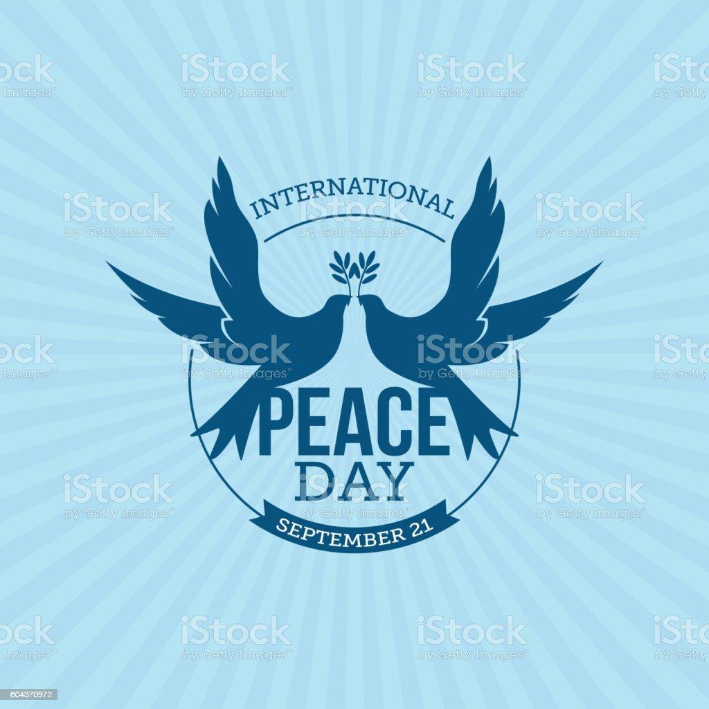 International Day of Peace vector art illustration