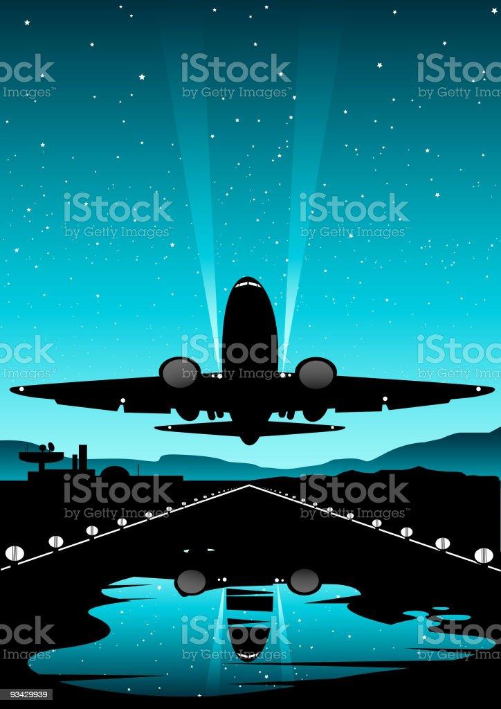 International Flights vector art illustration