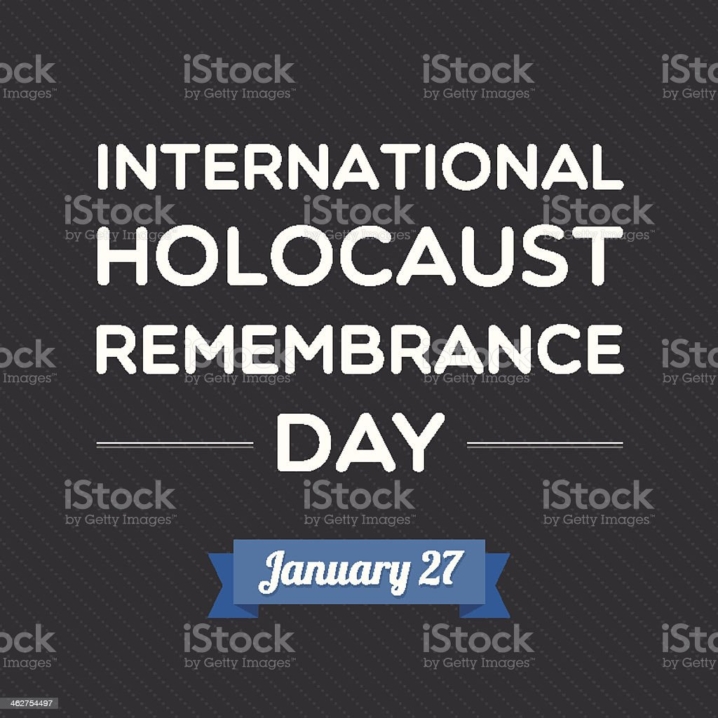 International Holocaust Remembrance Day vector art illustration