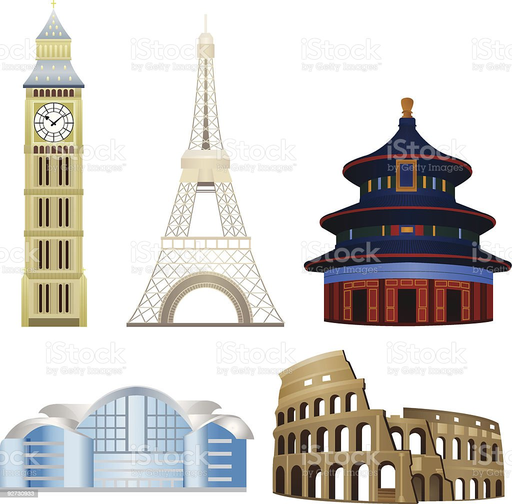 International Landmark vector art illustration