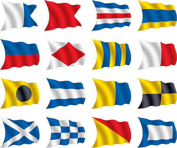 Nautical Flags Clip Art, Vector Images & Illustrations - iStock