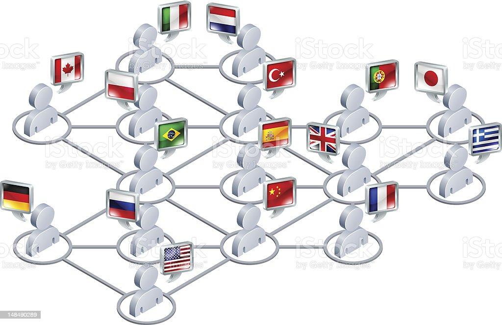 International network vector art illustration