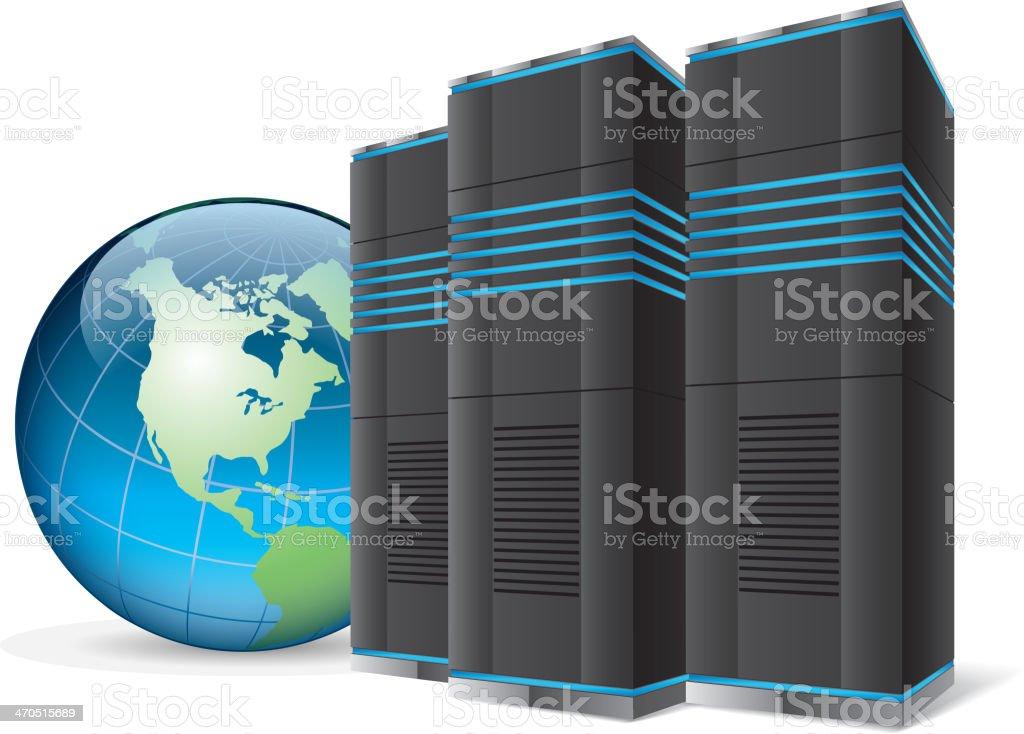 International server vector art illustration