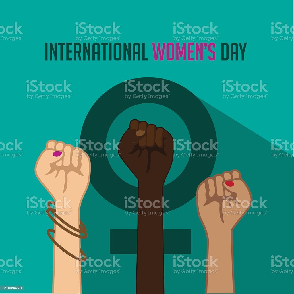 International Women's Day poster. vector art illustration