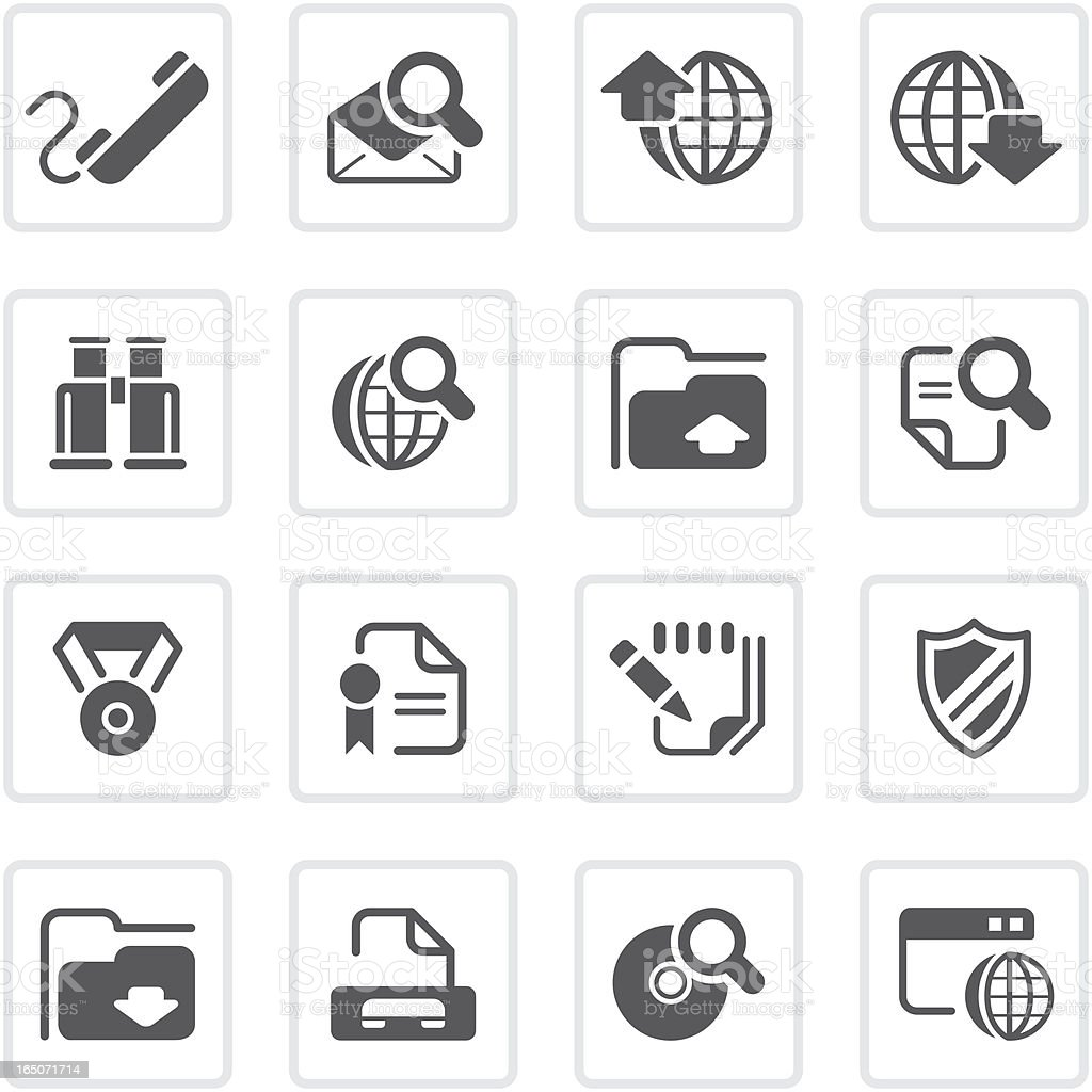 Internet and communication icons | prime series vector art illustration