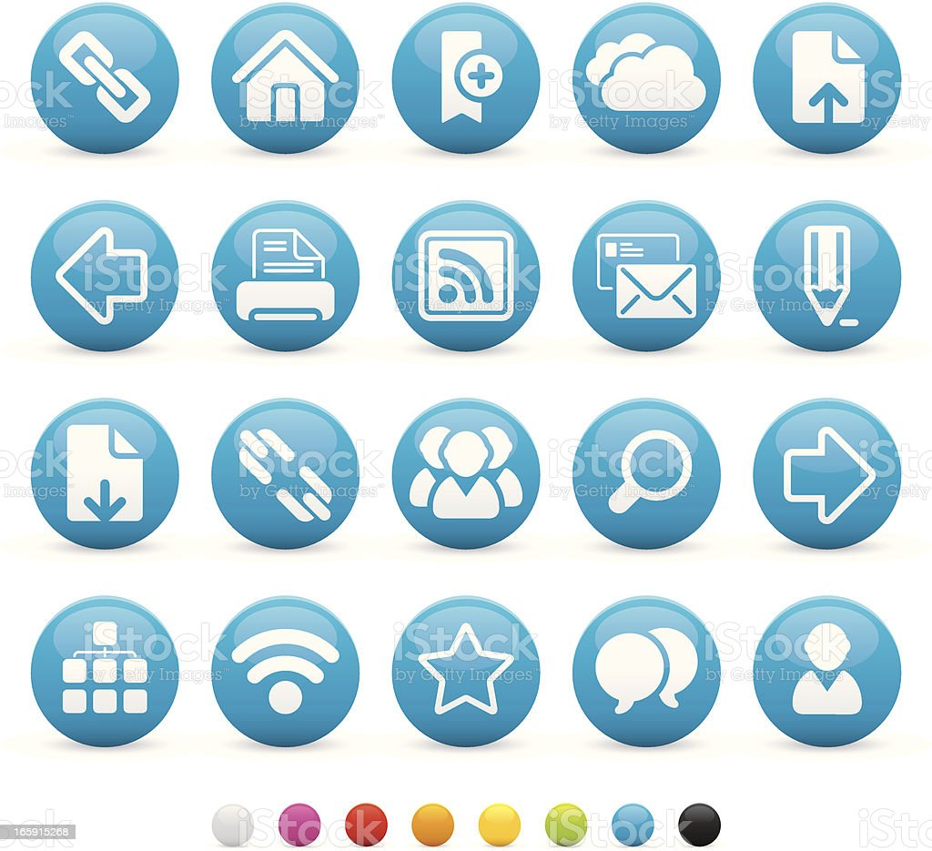 Internet and Media Buttons royalty-free stock vector art