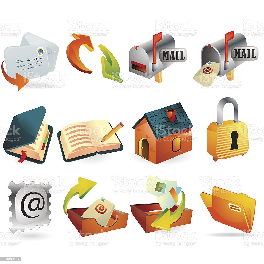 Internet and Web Icons royalty-free stock vector art