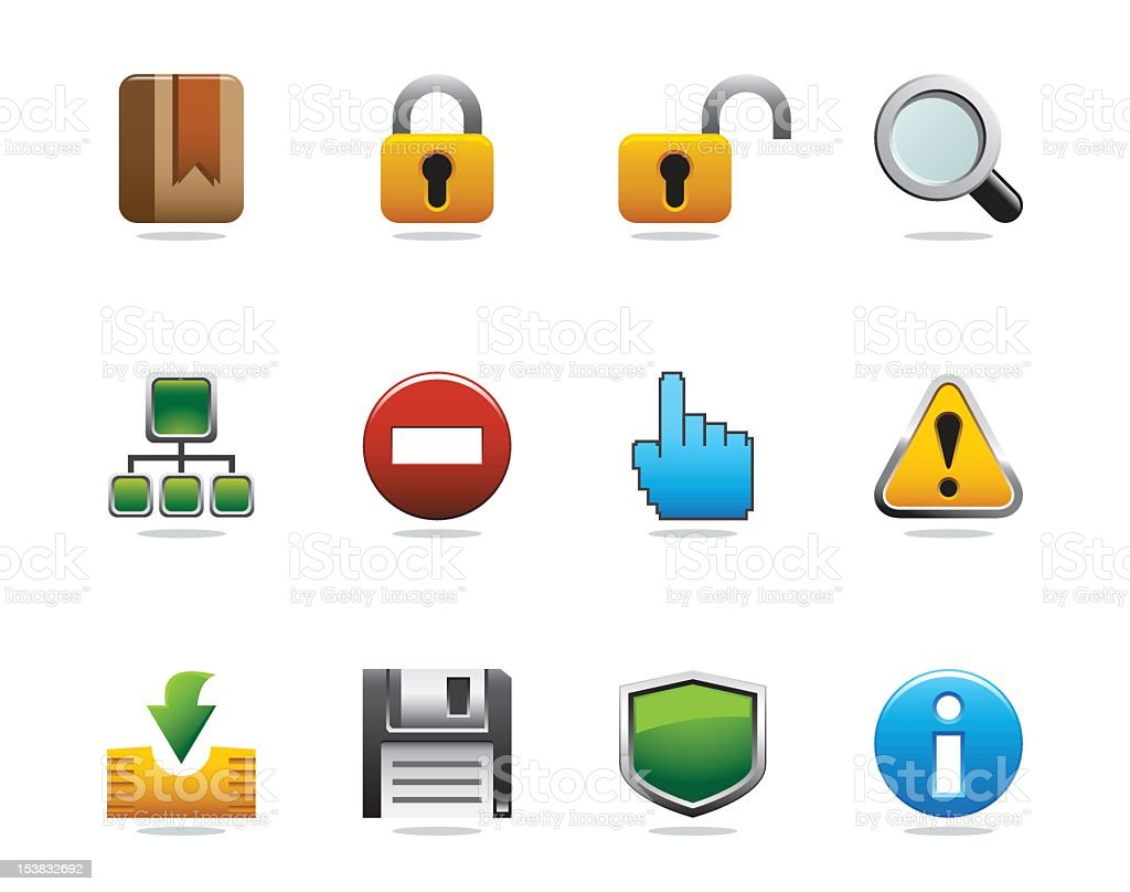 Internet and Website Icons - Grace Series royalty-free stock vector art