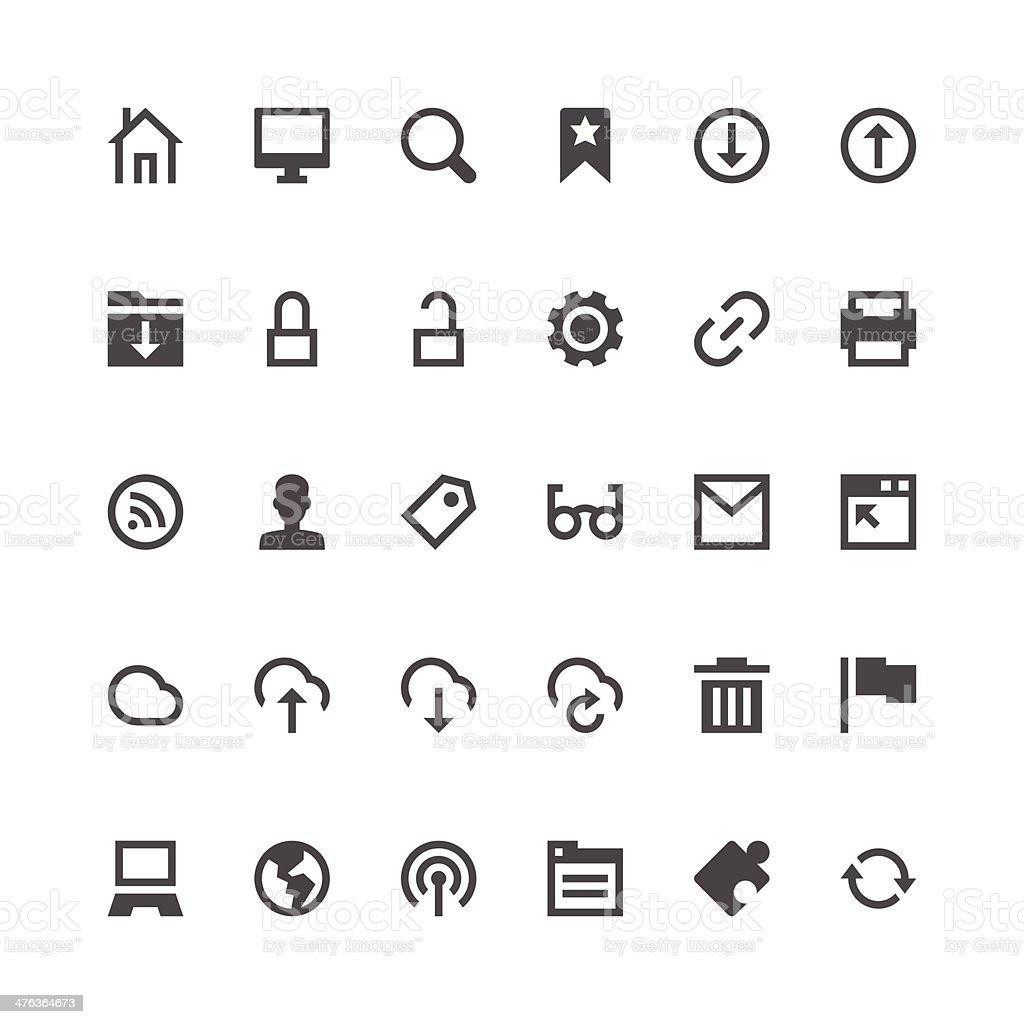 Internet and Website icons | Paris Series royalty-free stock vector art